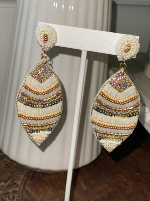 Natural Tone Beaded Earrings