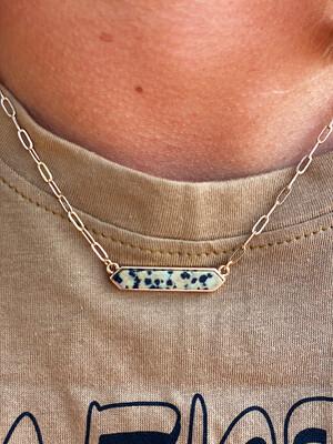 Dalmatian Bar Bracelet
