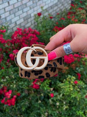 Plus Cheetah Shiny Gold Belt