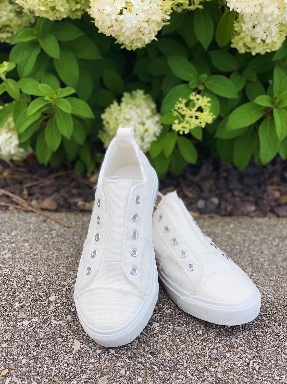White Corky's Babalu Sneakers