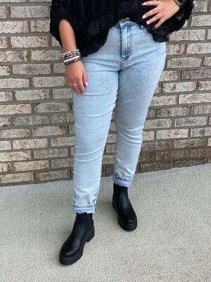 Judy Blue Acid Wash High Rise Slim Fit Jeans