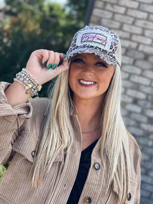 B Fancy Cheetah Hat