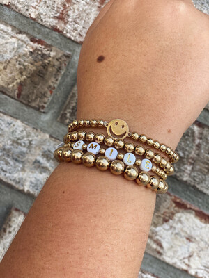Smile Gold Bracelet Set