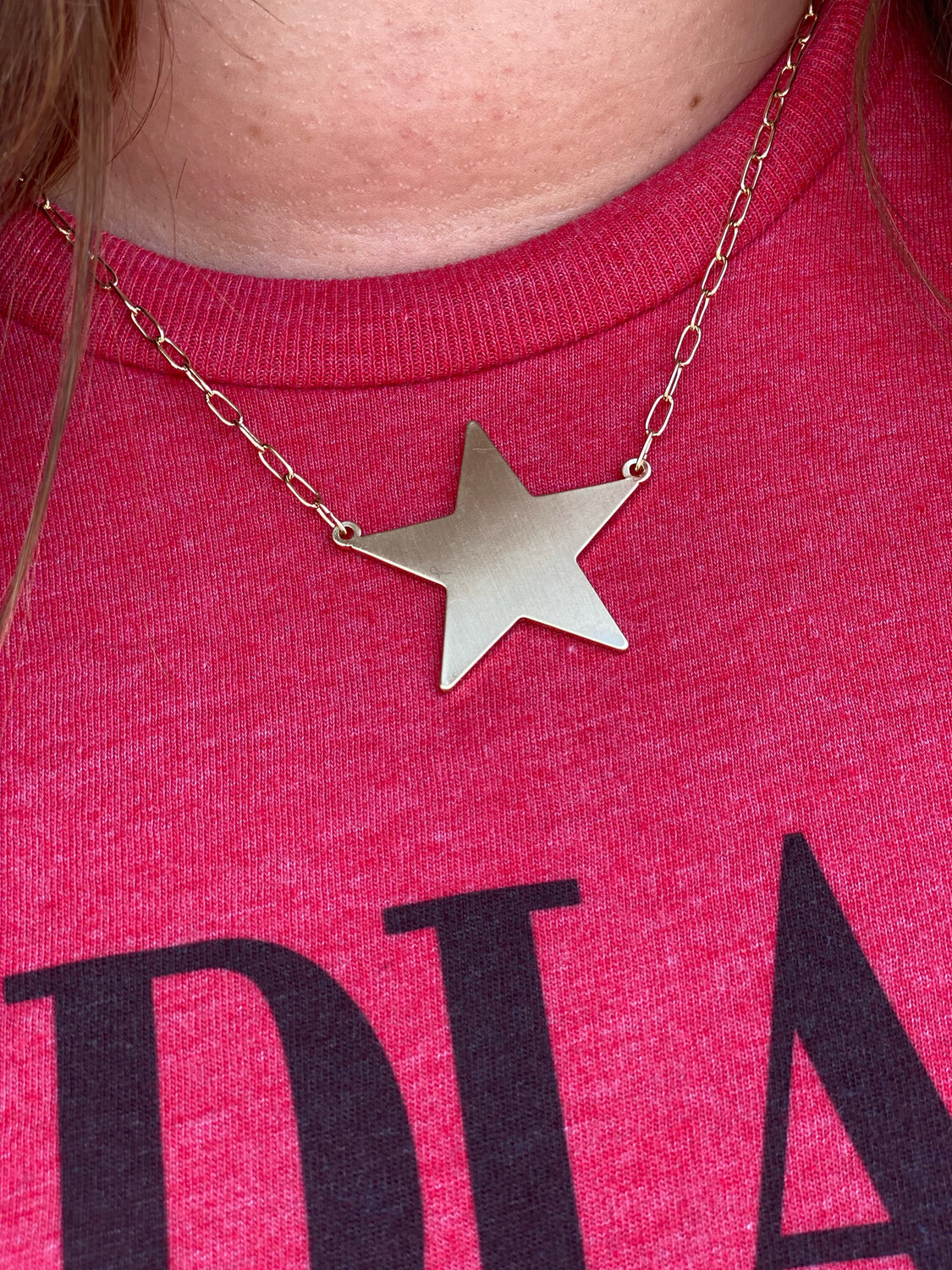 Muted Gold Star Necklace