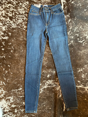 Judy Blue High Waist Stone + Hand Skinny Jeans