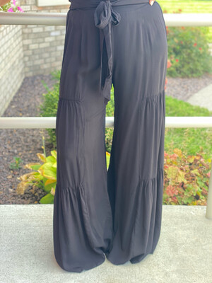 Black Tiered Pants