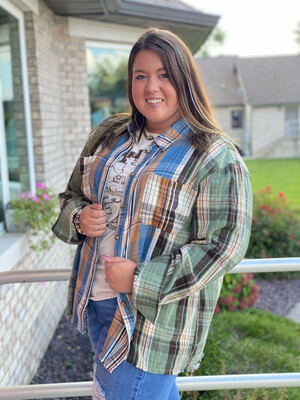 Mixed Color Plaid Flannel