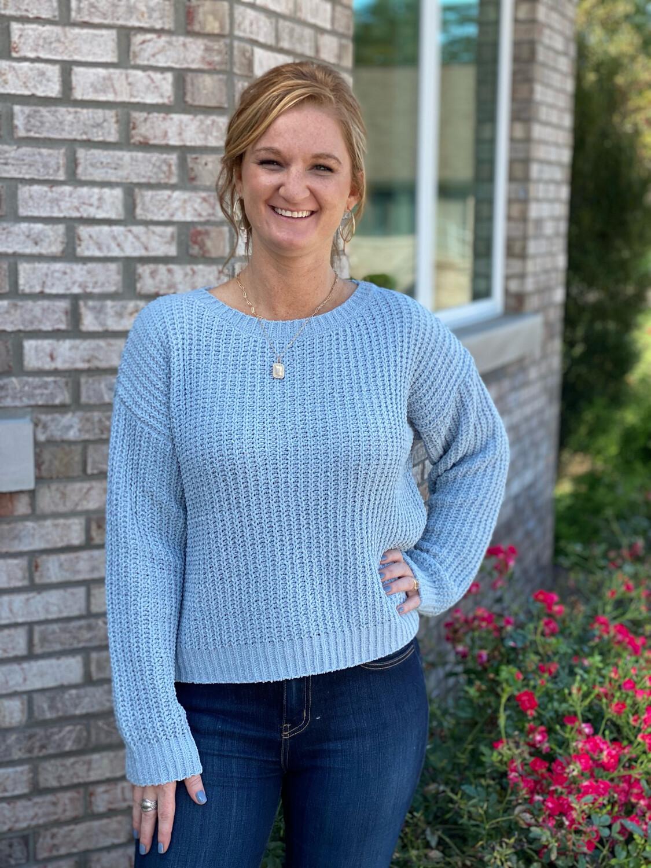Smoke Blue Chunky Sweater