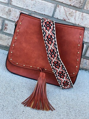 Rust Bailey Crossbody With Accent Strap