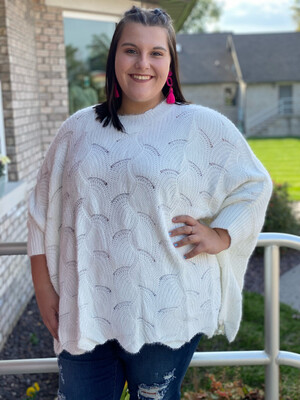 Plus White Soft Dolman Sleeve Sweater