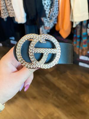 Black Chain Link Gold Belt