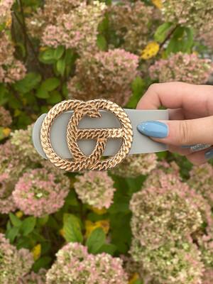 Grey Chain Link Gold Belt