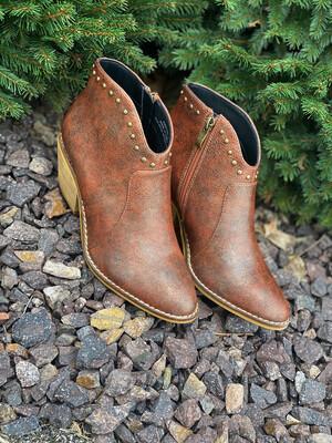 Corky's Brown/Rust Metallic Swifton Booties