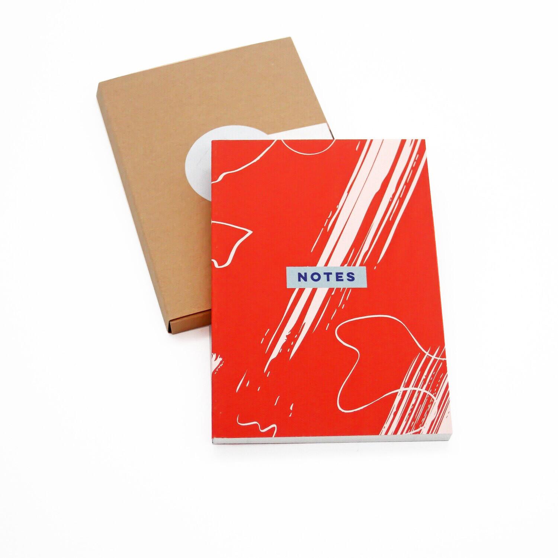 Red Scribble Pocket Notebook