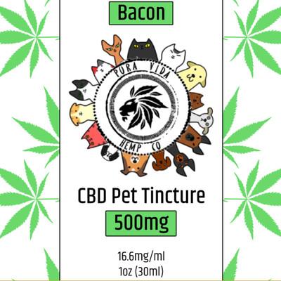 CBD Pet Tincture Bacon - Lab Tested - THC Free