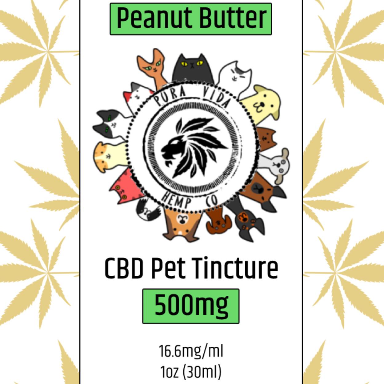 CBD Pet Tincture Peanut Butter - Lab Tested - THC Free