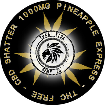 Pineapple Express CBD shatter infused with terpenes