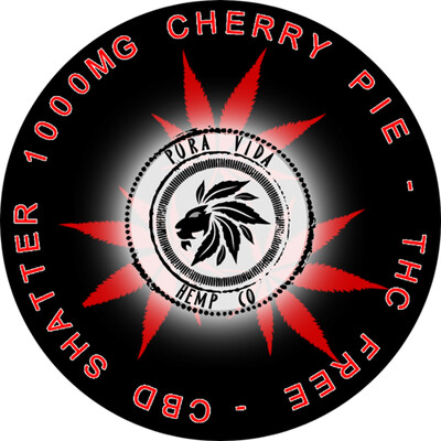 Cherry Pie CBD shatter infused with terpenes