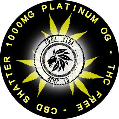 Platinum OG CBD shatter infused with terpenes