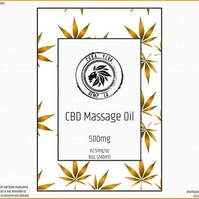 CBD Massage Oil - MCT formula - Lab Tested - THC Free