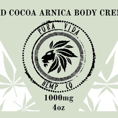 Cocoa Arnica Mint Body Creme - Lab Tested - THC Free