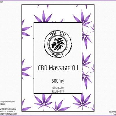 Lavender CBD Massage Oil - Lab Tested - THC Free