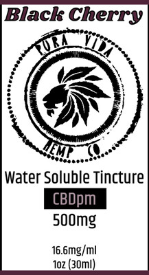 Black Cherry Water Soluble CBD Tincture - Lab Tested - THC Free
