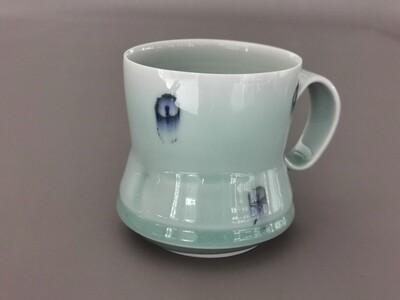 Tasse, Porzellan, Höhe 10 cm Durchm. 9 cm