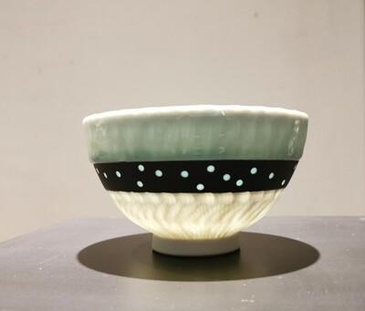Schale Porzellan  Höhe 9,0 cm                           Durchm. 14,0  cm
