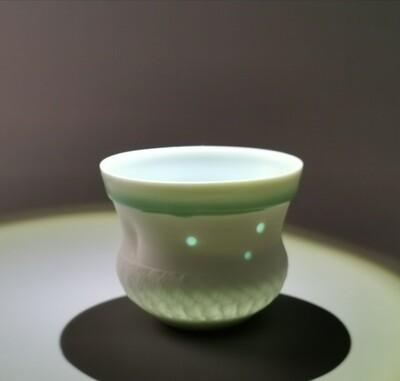 Becher Porzellan   Höhe 8 cm                              Durchm.      10 cm