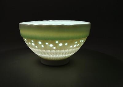 Schale, Porzellan, Höhe 8 cm Durchm. 12,0 cm