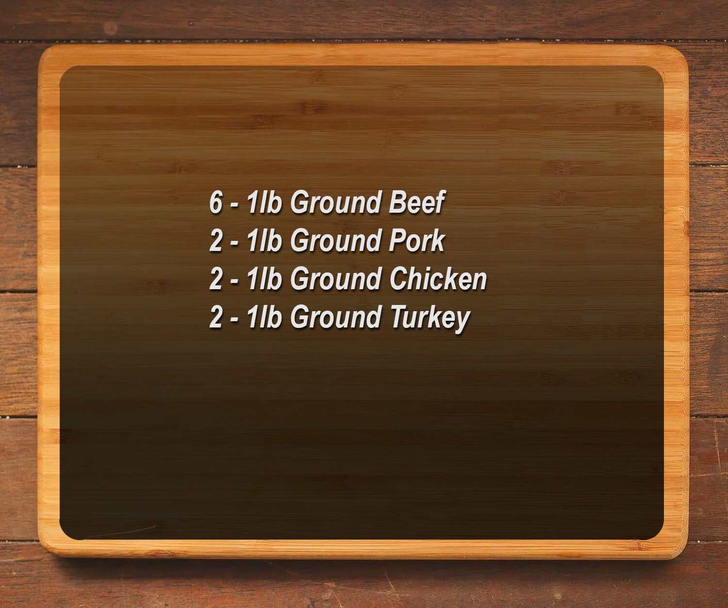 Ground Meat Package