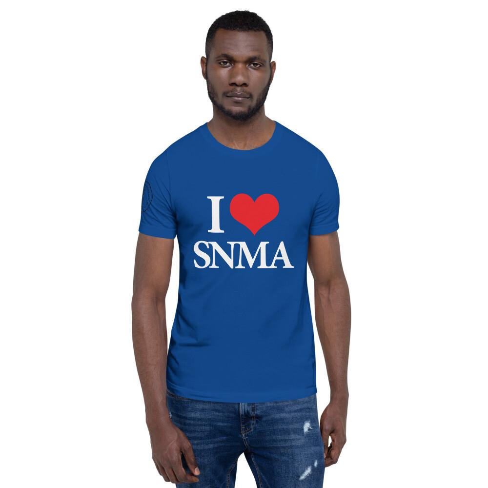 iLOVE Short-Sleeve Unisex T-Shirt premium