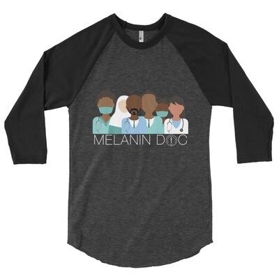 Melanin Docs 3/4 sleeve raglan shirt