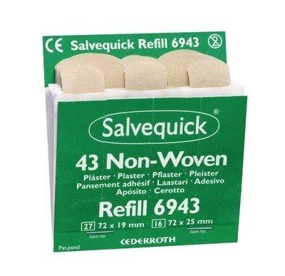 Salvequick non-woven pleisters 6943 voordeelpak 6 ds.