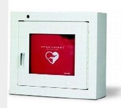 AED-alarmkast met geluidssignaal voor opbouw