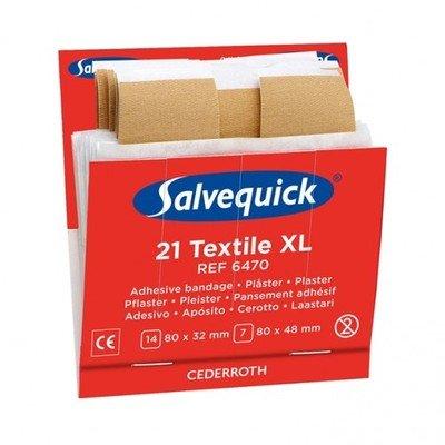 Salvequick textiel pleisters XL 6470 voordeelpak 6 ds.