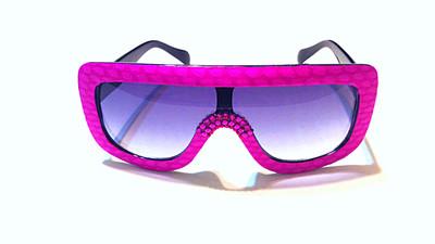 Fuchsia  Snakeskin Sunglasses w/Swarovski Rhinestones