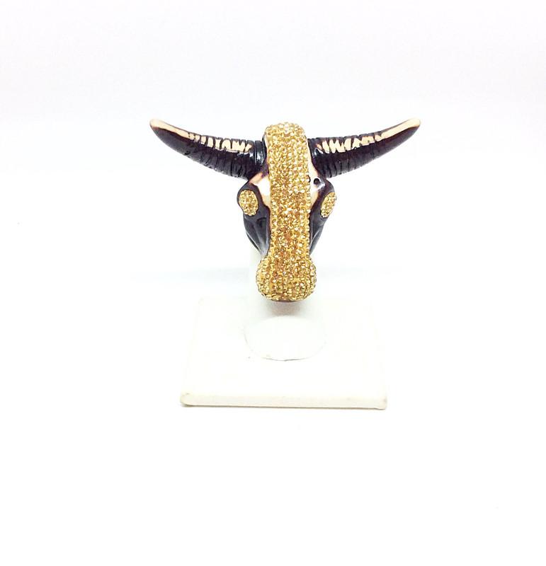 LongHorn Ring. Gold Ring-Adjustable