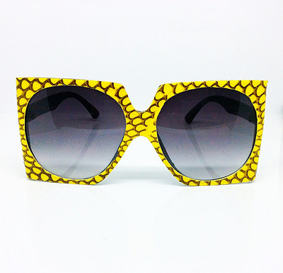 Yellow Snakeskin Sunglasses