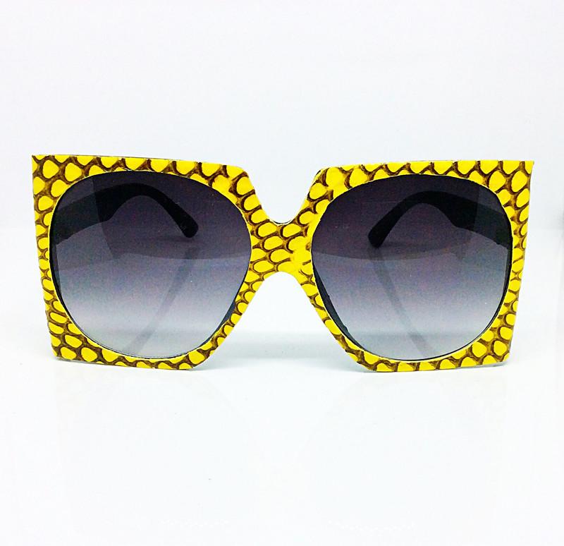 Yellow Snakeskin Sunglasses