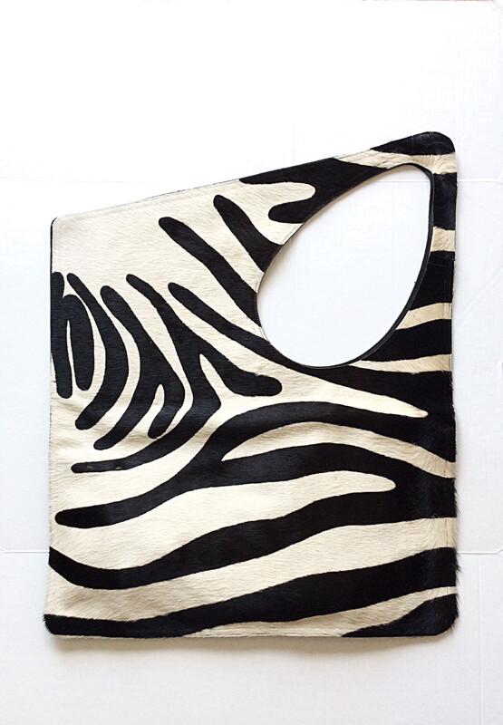 Try-Angle Zebra Handbag