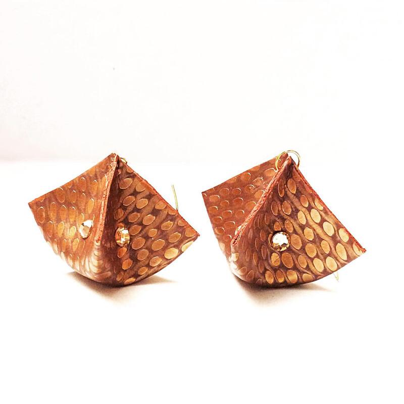 Copper/ Bronze Triangle Box & Swarovski
