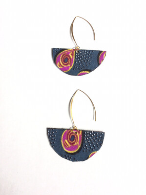 Black/Gray Journey  Earrings (SMALLER)