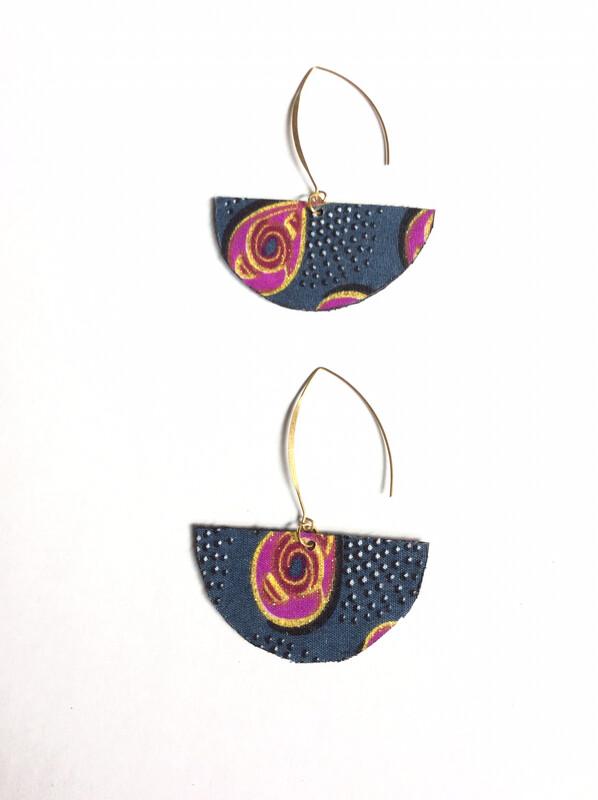 Black/Gray Journey  Earrings (SMALLER)