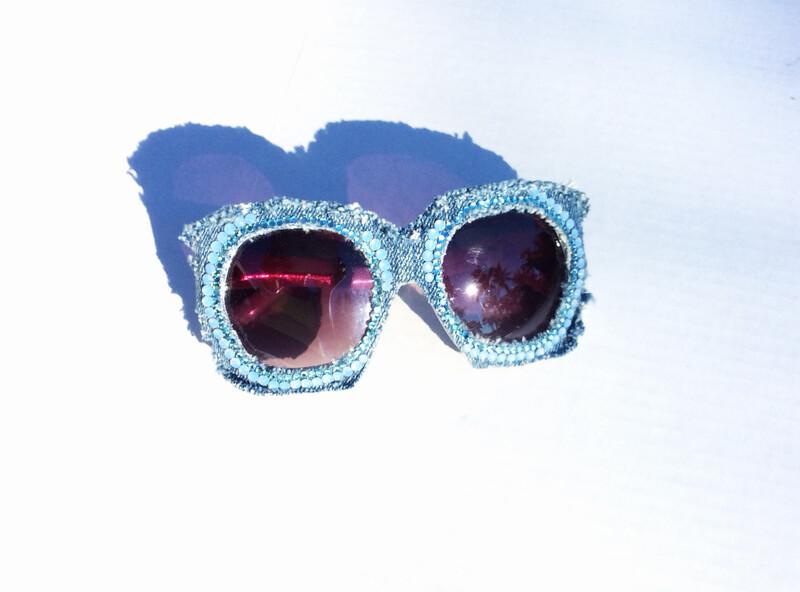Blue Jeans Sunglasses w/Swarovski Rhinestones