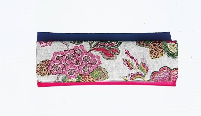 Pink Garden Clutch