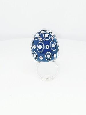 FAB-u-LUS Blue Circle Ring