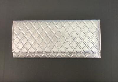 Silver 3D Diamond Clutch