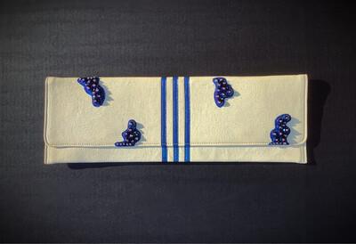 White & Blue Clutch